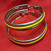 Сережки кольца с разноцветной серединой , фото 3