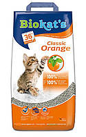 Наполнитель Gimpet Biokat's Orange для кошек глиняный, 10 кг