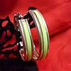 Сережки кольца с разноцветной серединой , фото 2