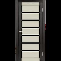 Дверь PORTO Сombi DeLuxe  PCD-01. Исполнение: с черным стеклом. KORFAD