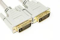 Видео кабель PowerPlantDVI-D 24M-24M, 1.5м, Double ferrites
