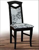 Стул деревянный с мягким сиденьем и спинкой Милан, темный венге, ткань Роза 1А в1000 х  г410 х  ш470 мм