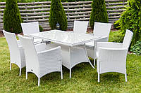 Садовая мебель Ротанг TRAPANI 7 белая