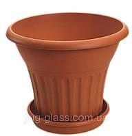 Напольный цветочный горшок 36 л с подставкой матовый Bergama (500Х500Х415).