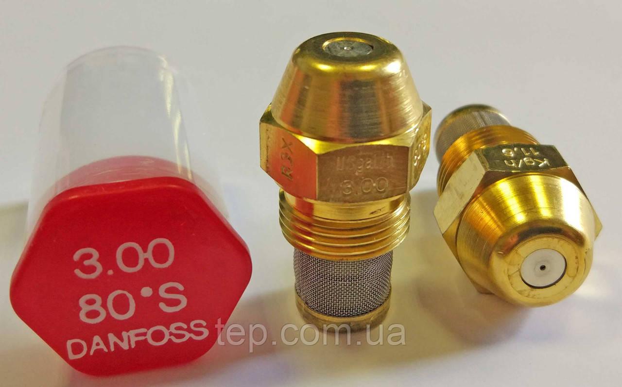 Форсунка Danfoss 3.00 Usgal/h 80° S (11.6 kg/h)