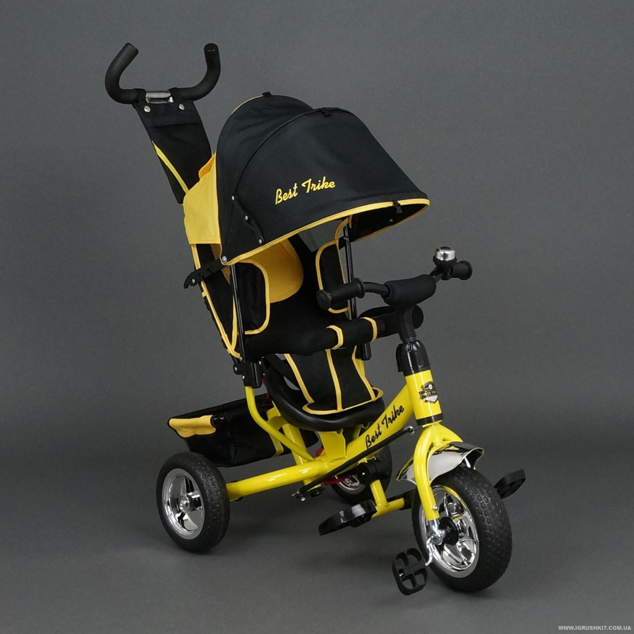 Дитячий триколісний велосипед Best Trike 6588 жовтий