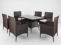 Садовая мебель Ротанг TRAPANI 7 коричневый