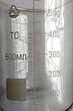 Стакан мерный Н-1-600 ТС (низкий с носиком) со шкалой V-600 мл ГОСТ 25336-82 из термически стойкого стекла, фото 2