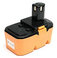 Аккумулятор PowerPlant для шуруповертов и электроинструментов RYOBI GD-RYO-18(A) 18V 3.3Ah NIMH