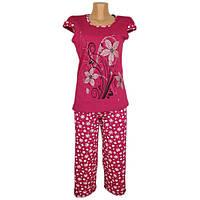 Пижама футболка + бриджи принт ( кулир)