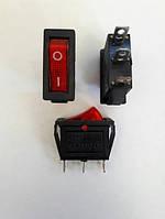 Кнопочный выключатель, переключатель клавишный. Клавиша узкая, с подсветкой