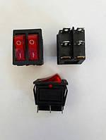 Кнопочный выключатель, Клавиша широкая двойная, с подсветкой