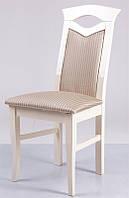 Стул деревянный с мягким сиденьем и спинкой Милан, слоновая кость, ткань Джангл 2v1 Y в1000 х  г410 х  ш470 мм