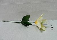 Цветы искусственные-179. Лилия бежевая, 32см