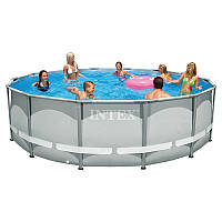 Круглый каркасный бассейн Intex 28310 Ultra Frame Pool (427x107 см) + насос + лестница+подстилка+чехол