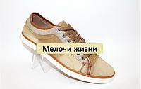 Мужские кеды HOLASO на шнурках хаки. р40