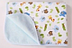 Непромокаемая двухсторонняя пеленка бамбуковая махра +дышащая мембрана+ фланель. Размер 30Х40 см. Оптом, фото 2