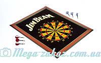 Мишень для игры в дартс магнитная/дартс магнитный Jim Beam 1050: 58x75см, 6 дротиков