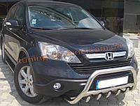 Защита переднего бампера кенгурятник из нержавейки на Honda CR-V 2007-2012