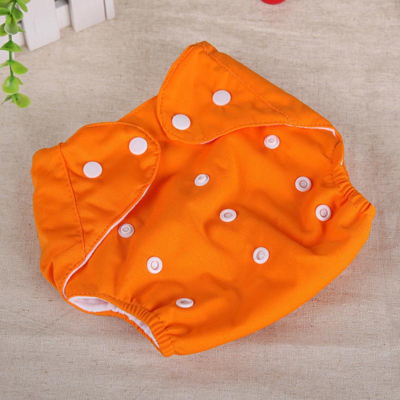 Многоразовые подгузники Qianquhui оранжевый флис  Оптом
