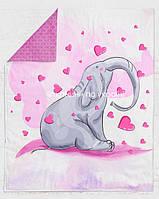 """Панелька Премиум хлопок """"Слон+сердца"""" 100*75"""