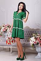 Летнее платье Дорсия зелёный (42-48)