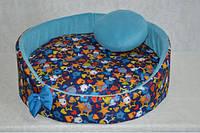 Лежак круглый для собак и котов Звездочка новинка