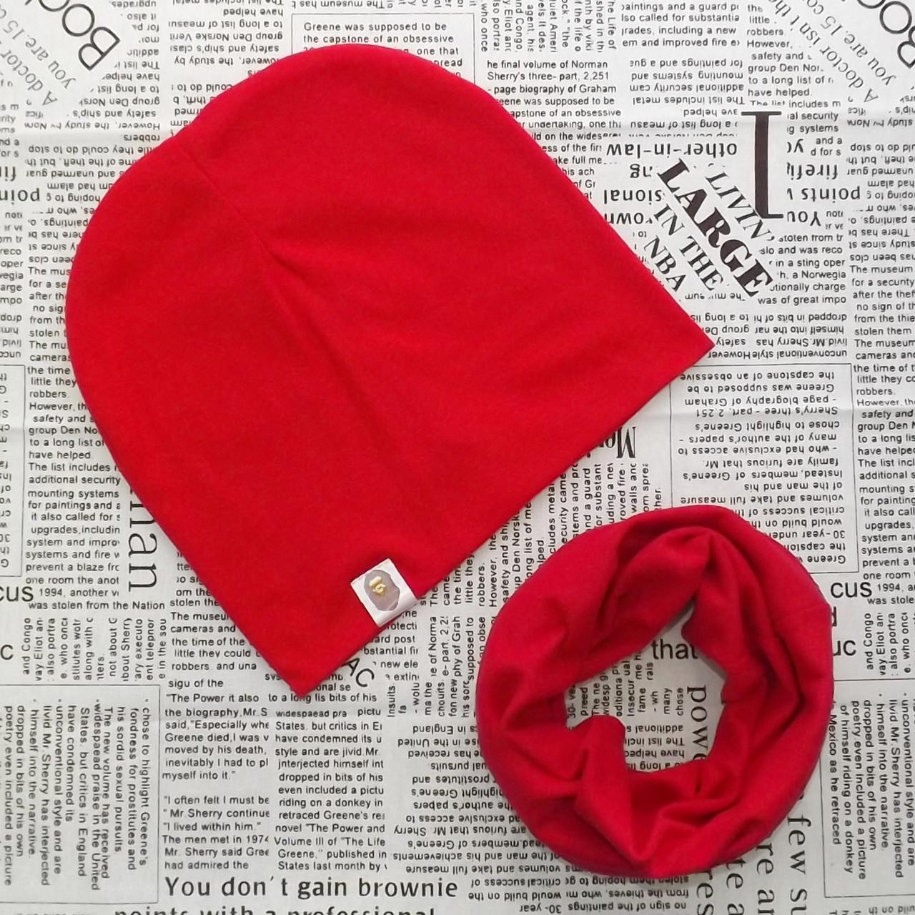 Комплект шапка Варе + шарф хомут для подростков  Оптом