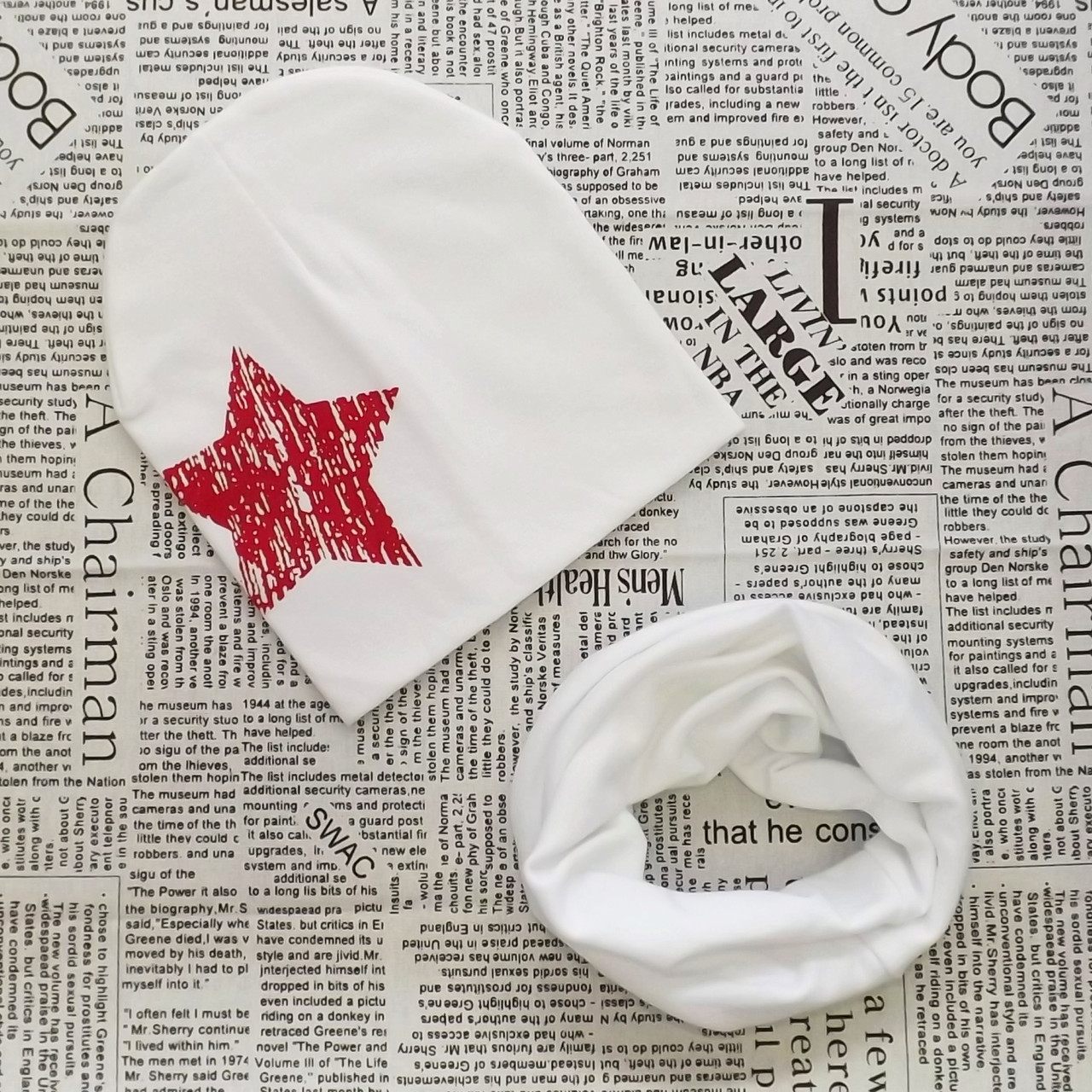 Демисезонный набор: детская шапка с Звездочкой и снуд  Оптом