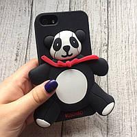 Силиконовый чехол панда Moschino для iPhone 5/5s/se