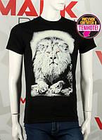Мужская футболка с фото льва