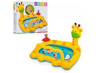Детский надувной бассейн жираф (интекс)