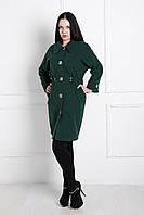 Пальто женское кашемировое 2015 Д 77 зеленый