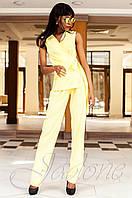 Стильный женский желтый комбинезон Ариэла Jadone Fashion 42-50 размеры