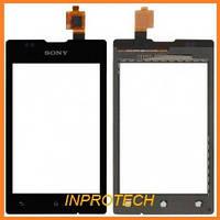 Сенсор (тачскрин) Sony C1503, C1504, C1505, C1604, C1605 Xperia E Dual Black Original