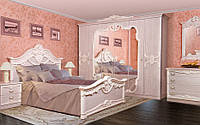 Спальня Далия четырех, шести дверный шкаф, прикроватные тумбы, комод, зеркало,кровать без матраса