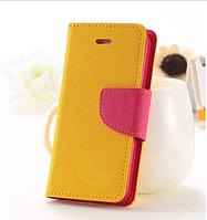 Оранжевый чехол-книжка для Iphone 4/4S на магнитной застежке и с ремешком на руку