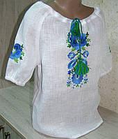 Белая вышиванка для девочки