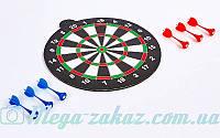 Мишень для игры в дартс магнитная двухсторонняя/дартс магнитный Baili 6101: диаметр 30см, 6 дротиков