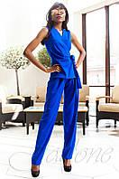Стильный женский комбинезон Ариэла электрик Jadone Fashion 42-50 размеры