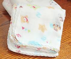 Детские муслиновые носовые платочки Оптом