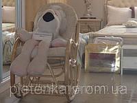 Кресло качалка из ротанга с подножкой и с подушкой., фото 1