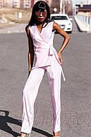 Стильный женский розовый комбинезон Ариэла  Jadone Fashion 42-50 размеры