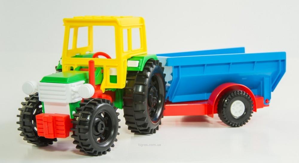 Трактор з причепом Wader