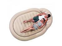 Надувная пляжная велюр-кровать интекс