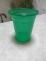 Одноразовый стакан полипропиленовый 200 мл зеленый