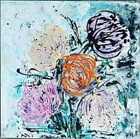 «Воздушные хризантемы» картина акрил