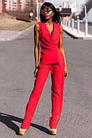 Стильный женский красный комбинезон Ариэла  Jadone Fashion 42-50 размеры