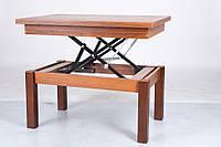 Стол - трансформер ( журнальный + обеденный ) Флай Орех лесной