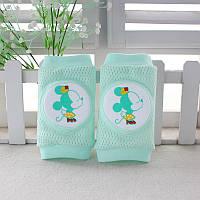 Наколенники для малышей сетчатые Микки Маус Мятный